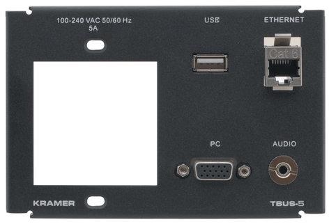 Kramer T5F-1S  Inner Frame for TBUS-5XL (1 Power, PC, 1 USB, 1 RJ-45, (1) 3.5mm) T5F-1S