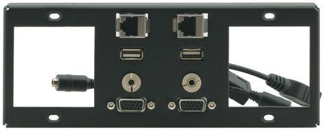 Kramer T6F-2S  Inner Frame for TBUS-6XL (2 Power, 2 Insert Slots, 2 PC, 2 USB, 2 RJ-45, (2) 3.5mm) T6F-2S