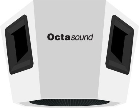 """Octasound SP860A 360° x 180° Ceiling Speaker with 4 Horn Drivers & 18"""" Subwoofer in White SP860A"""