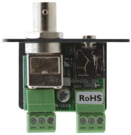 Kramer WAV-1N  Wall Plate Insert - BNC & 3.5mm Stereo Audio to Terminal Block WAV-1N