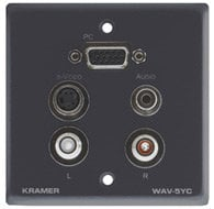 Kramer WAV-5YC  Passive Wall Plate - 15-pin HD, 3.5mm Stereo Audio, S-Video, Dual RCA WAV-5YC