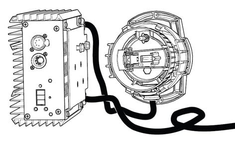 ETC/Elec Theatre Controls S4PARDIM Source Four PAR Dimmer Kit in Black with Lamp Housing S4PAR-DIM