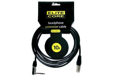"""Elite Core Audio EC-PRO-HEX10 10' Headphone Extension Cable, 1/4"""" TRS to  XLRM EC-PRO-HEX10"""