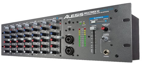 Alesis MultiMix 10 Wireless 10-Channel Rackmount Mixer with Articulating Bluetooth Antenna MULTIMIX10-WIRELESS