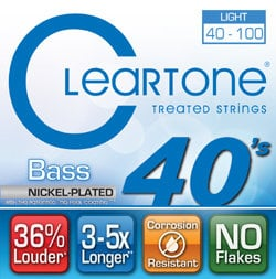 Cleartone Guitar Strings 6440 Light Electric Bass Strings 6440-CLEARTONE