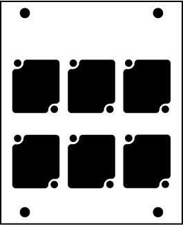 Ace Backstage PNL-106 Aluminum Stage Pocket Panel, with 6 Connectrix Mounts, Black PNL-106