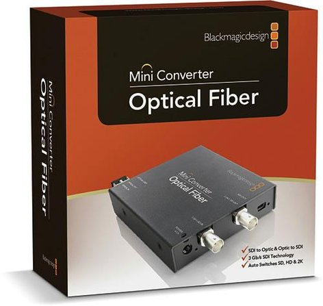 Blackmagic Design CONVMOF Optical Fiber to SDI, SDI to Optical Fiber Mini Converter CONVMOF
