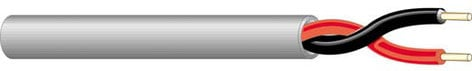 West Penn 25226B-500-BLACK  2 Conductor 14 AWG Plenum Cable, 500ft, Black 25226B-500-BLACK