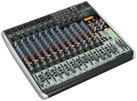 Behringer QX2222USB 22-Ch 2/2Bus USB Mixer, with Klark Teknik FX QX2222USB
