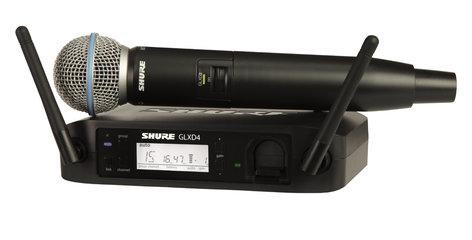 Shure GLXD24/B58 GLXD24/BETA58 Digital Handheld Wireless System with BETA58 Handheld Transmitter GLXD24/B58