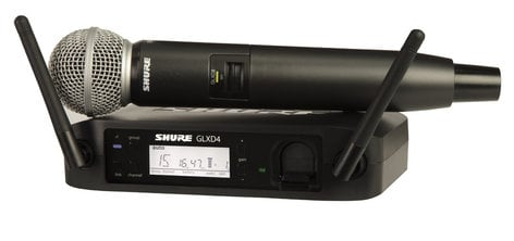 Shure GLXD24/SM58 GLX-D Series Digital Wireless System with SM58 Handheld Transmitter GLXD24/SM58