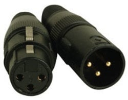 Accu-Cable ACXLR3PSET Two 3-Pin XLR Connectors with Gold Pins - 1 Male & 1 Female ACXLR3PSET