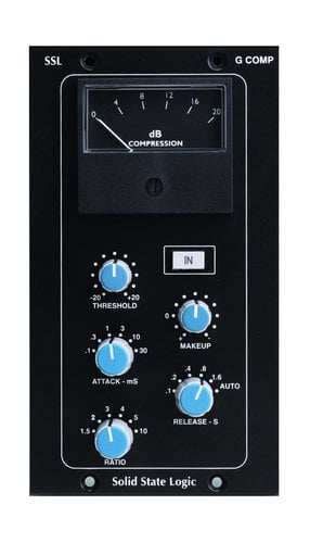 Solid State Logic STEREO BUSS COMPRESSOR 500 Stereo Bus Compressor module for 500 format rack STEREO-BUSS-COMP-500