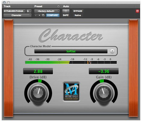 Metric Halo Character Analog Modeling Plug-in for Pro Tools™ 10 AAX (Electronic Delivery) CHAR-AAX-1