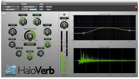 Metric Halo HaloVerb Algorithmic Reverb for Pro Tools™ 10 AAX (Electronic Delivery) HVERB-AAX-1