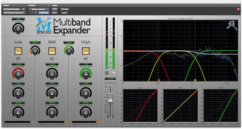 Metric Halo Multiband Expander Dynamic Frequency Shaping for Pro Tools™ 10 AAX (Electronic Delivery) MBEXP-AAX-1