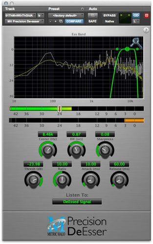 Metric Halo Precision DeEsser Sibilance Correction for Pro Tools™ 10 AAX (Electronic Delivery) PDSR-AAX-1