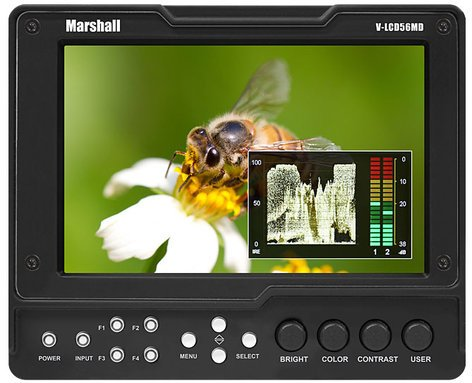 "Marshall Electronics V-LCD56MD-3G  5.6"" High Resolution Camera-Top Monitor with 3G Input Module with Loop-Through V-LCD56MD-3G"