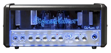 Hughes & Kettner TM18H TubeMeister 18 Head 18W 2-Channel Tube Guitar Amplifier Head with Onboard Red Box Output TM18H