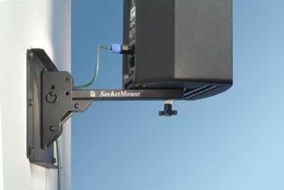Allen Products/Adaptive Technologies SM-075ASB  Stowable Speaker Mount, Pan and Tilt Adjustable, Black SM-075ASB