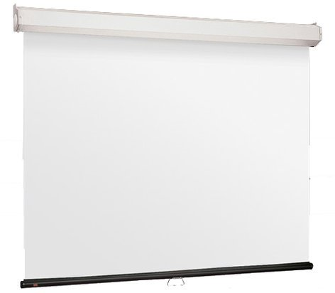 """Draper Shade and Screen 206113  161"""" HDTV Luma 2 with AR Manual Projection Screen, Matte White 206113"""