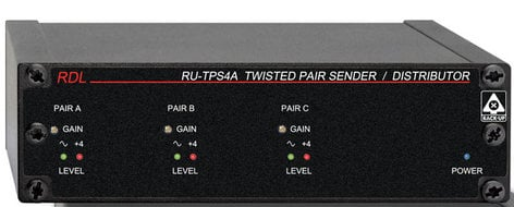 Radio Design Labs RU-TPS4A Active Sender/Distributor - Twisted Pair Format-A, 3 Audio Ins/4 Out RU-TPS4A