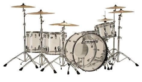 """Ludwig Drums L8264LX38 Vistalite """"Zep Set"""" 5 Piece Shell Pack in Clear L8264LX38"""
