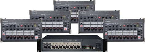 Roland System Group M48-PM5 Personal Mixing for 5 (Add-On): 5x M-48 Mixers, 1x S-4000D Splitter/Power Distributor M48-PM5