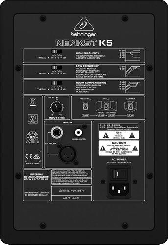 """Behringer NEKKST K5 5"""" Bi-Amplified Active Studio Monitor K-5"""