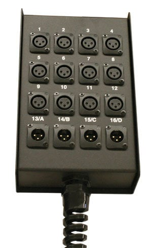 RapcoHorizon Music S8BPPR  8 Channel Stage Box, Pre-Punched with Relief S8BPPR