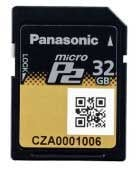 Panasonic AJ-P2M032AG 32GB microP2 Memory Card AJP2M032AG