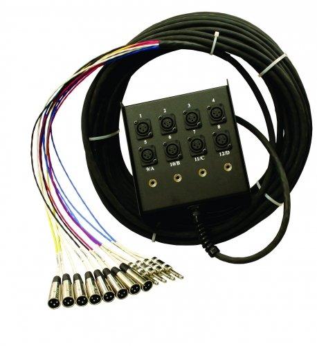 Pro Co SMC0804FBX-100 100 ft. 8x XLR Mic Channel, 4x XLR Return Fan to Box Snake SMC0804FBX-100