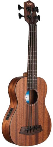 Kala Brand Music Co. UBASS-SMHG-FL Solid Mahogany U-BASS Fretless Bass Ukulele UBASS-SMHG-FL