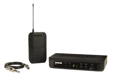 Shure BLX14-J10 Wireless Guitar System with BLX1 Bodypack Transmitter and BLX4 Receiver, 584-608 MHz BLX14-J10