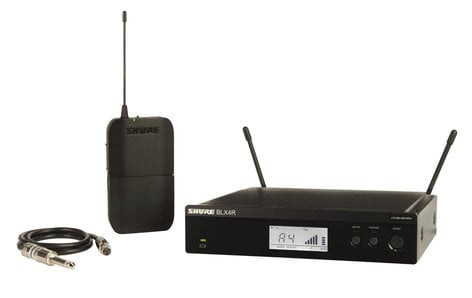 Shure BLX14R-J10 Wireless Guitar System with Rackmountable Receiver, J10: 584-608 MHz BLX14R-J10