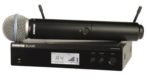 Shure BLX24R/B58-J10 Wireless Rackmount System with Beta 58A Handheld Microphone Transmitter, 584-608 MHz BLX24R/B58-J10