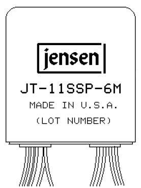 "Jensen Transformers JT-11SSP-6M  600 Ohm Line Input Transformer with 1:1 Split Winding ""Repeat Coil"" JT-11SSP-6M"