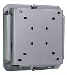 "Peerless SF630 Flat Wall Mount for Small LCD 10""-24"" Screens, VESA 75/100, Black (silver shown) SF630"