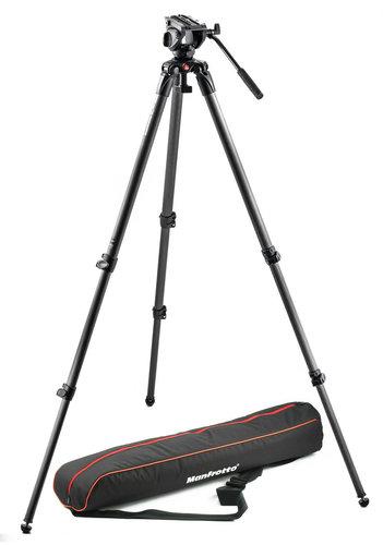 Manfrotto MVK500C Lightweight Fluid Video Tripod System with Carbon Fiber Legs MVK500C