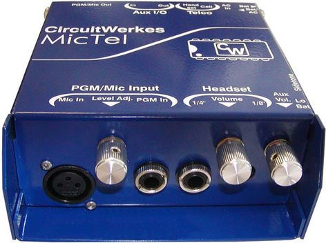 Circuitwerkes MicTel Amplified Mic/Line to Telephone Interface with Onboard Limiting MICTEL
