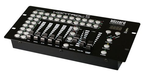 Blizzard Lighting KONTROL 5 10 Channel DMX Controller with 5 Faders KONTROL5