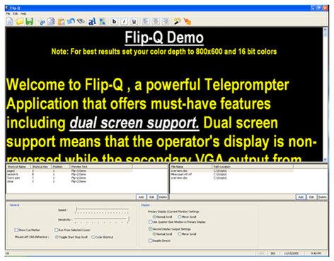 Jony Jib JP Flip-Q Pro Teleprompter Reversing/Scrolling Software JP-FLIP-Q-PRO