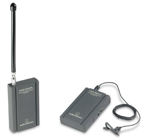 Audio-Technica PRO88W/MT830MW VHF Wireless System with Battery-Powered Receiver and Transmitter for Camcorder Use, with Subminiature Omni Microphone PRO88W/MT830MW