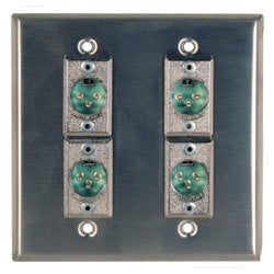 Rapco DBA-4H3FP  Anodized Double Gang Wall Plate in Black DBA-4H3FP
