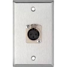 TecNec WPL-1115  Single-Gang Wall Plate with 1 XLR-F Connector WPL-1115
