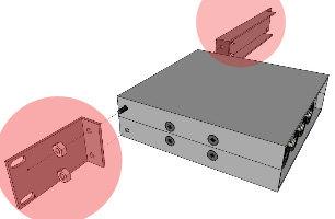 "Doug Fleenor Designs RK6-1  1RU Rack Kit for 6.5"" Stepladder Series Chassis in Gray RK6-1"