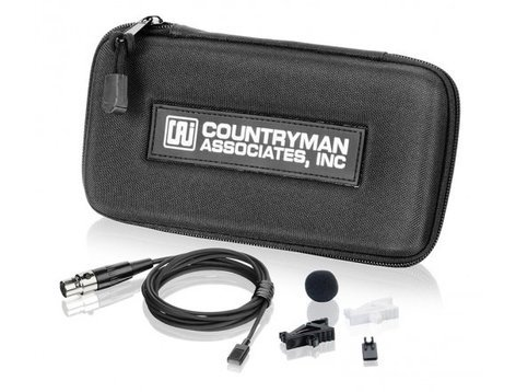 Countryman MEMWS05B-SR EMW Omnidirectional Lavalier for Sennheiser 3.5mm Locking Plug EW Series, Black MEMWS05B-SR