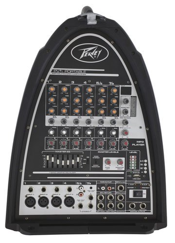 Peavey PVi Portable Portable PA System, 30 Watt 8 Channel Mixer PVI-PORTABLE