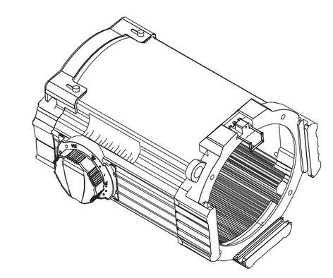 ETC/Elec Theatre Controls 42550LT 25°-50° Black Source 4 Zoom Lens Assembly 42550LT