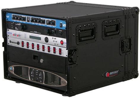 Odyssey FZAR08BL Black Label Series 8 RU Amp Rack Case FZAR08BL